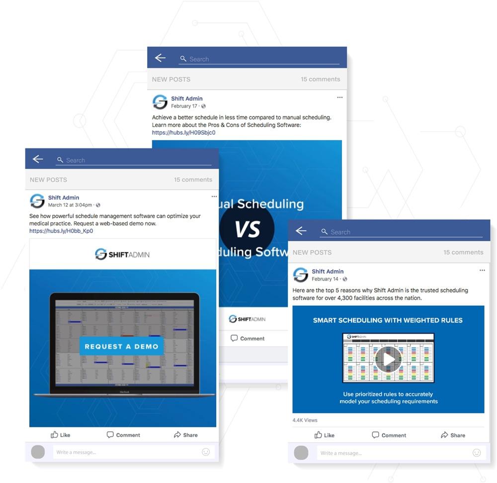 Shift Admin Social Media Examples